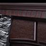 Электрокамин Porto 30U, (угловой) сланец черный, шпон венге, Electrolux