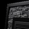 Электрокамин Loft 30 NEW,  черный сланец/черная эмаль, Electrolux
